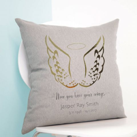 Personalised Angel Wings Cushion